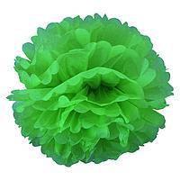 Помпон из тишью. Цвет: Светло Зелёный. Размер: 20см.