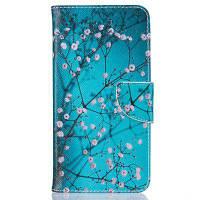 Plum Blossom Pattern Роскошный стиль PU кожаный чехол для мобильного телефона флип-обложка для iPhone 6 / 6s Синий
