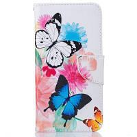 Шаблон бабочки Роскошный стиль PU кожаный чехол для мобильного телефона флип-обложка для iPhone 6 Plus / 6s Plus Разноцветный