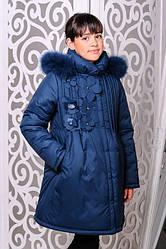 Красивая зимняя куртка для девочки Гера волна