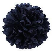 Помпон из тишью. Цвет: Чёрный. Размер: 25см.