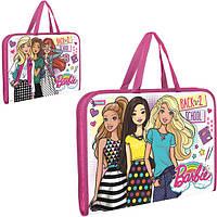 """Папка-портфель на молнии с тканевыми ручками """"Barbie"""""""