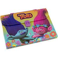 """Портфель папка пластиковый """"Trolls"""""""
