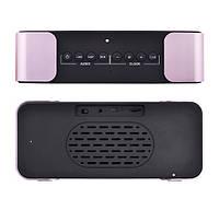 Портативная колонка PTH-305 Bluetooth + часы + будильник + радио, фото 3