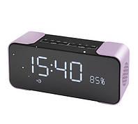 Портативная колонка PTH-305 Bluetooth + часы + будильник + радио, фото 2