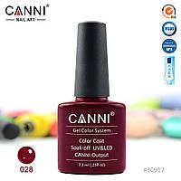 Гель-лак Canni 28 бордовый 7.3ml