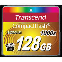Карта памяти Transcend 128GB CompactFlash Memory Card Ultimate 1000x UDMA