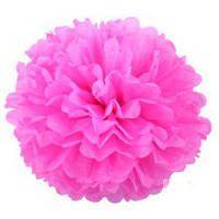 Помпон из тишью. Цвет: Розовый. Размер: 20см.
