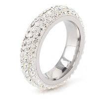 Маленькое свежее шипованное модное титановое стальное ювелирное кольцо 6