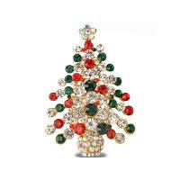 Красочные рождественские брокколи Новые красивые кристальные золотые браслеты для брошюр для женщин Разноцветный