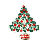 Красочные рождественские брокколи Новые красивые кристальные золотые браслеты для брошюр для Xmas Gift Серебристый