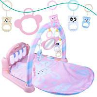 Мероприятие мягкий играть мат фитнес-кадр с фортепианными педалями малыш музыкальная игра новорожденная детская игрушка Розовый