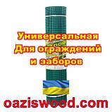 Сетка 1х20м темно-зеленая ячейка 10х10мм пластиковая Универсальная, для заборов и ограждений. Декоративная., фото 3