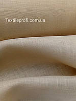 Льняная сорочечная ткань, цвета топлёного молока