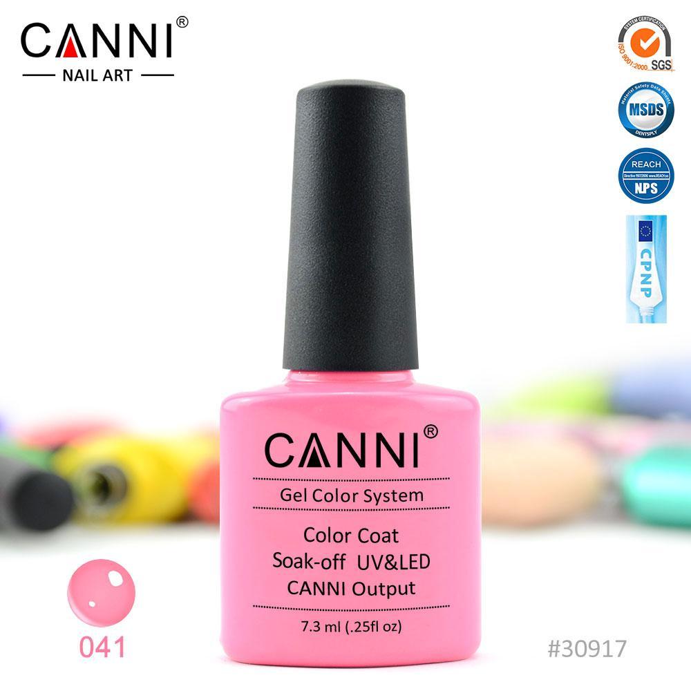 Гель-лак Canni 41 яркий светло-розовый 7.3ml