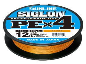 Шнур Sunline Siglon PE х4 150m (оранж.) #0.2/0.076mm 3lb/1.6kg