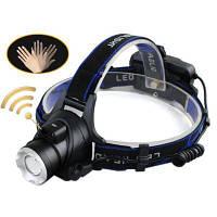 HKV Светодиодная фара Индукция фары XM-L T6 2000LM Головка головного света Фонарик Регулируемая головная лампа Передний свет холодный белый