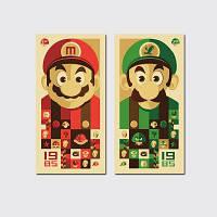 QiaoJiaHuaYuan No Frame Canvas Mario Brothers Group Рисование Гостиная Спальня Украшение Живопись Цветной