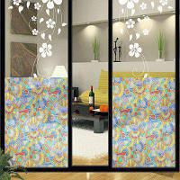 Геометрическая фигура Печать Стеклянная дверная наклейка Разноцветный