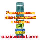 Сетка 1х20м темно-зеленая ячейка 13х13мм пластиковая Универсальная, для заборов и ограждений. Декоративная., фото 3