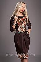 Стильное платье ANGELINA 442-2.Размеры 52