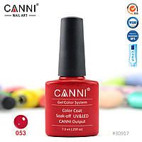 Гель-лак Canni 53 темно-красный 7.3ml