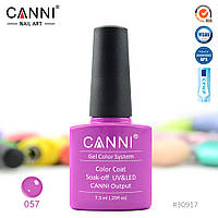 Гель-лак Canni 57 фіолетова фуксія 7.3 ml