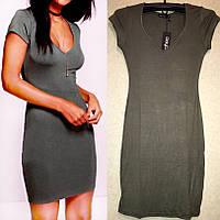 Платье цвета Хаки, Стильное На каждый День, бренд Boohoo оригинал, размер XS