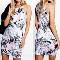Короткое Светлое Стильное Летнее Платье Boohoo, размер XS, S, М