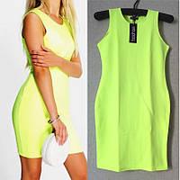 Платье Желтое Яркое Короткое Молодежное бренд Boohoo, размер L