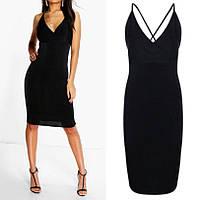 Шикарное Черное Вечернее Платье с Открытой Спиной, бренд Boohoo, размер S