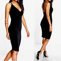 Шикарное Черное Вечернее Платье с Открытой Спиной, бренд Boohoo, размер ХS