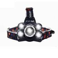 HKV 5 Светодиодный налобный фонарь XML T6+4Q5 налобный фонарь мощный светодиодный фонарик факел 18650 перезаряжаемый рыболовный охотничий свет