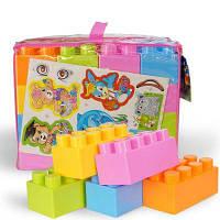 Дети раннего образования и мудрости гранулы пластиковые коллажи детский сад детские строительные блоки Цветной