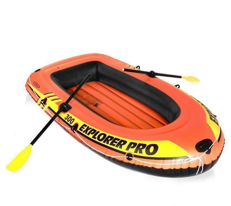 Полутораместная надувная лодка Intex 58358 Explorer Pro 300 Set 244 х 117 х 36 см с веслами и насосом 2