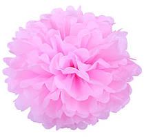 Помпон из тишью. Цвет: Светло Розовый. Размер: 25см.