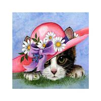 Naiyue S058 Pussy Cat Print Draw Алмазный рисунок Цветной