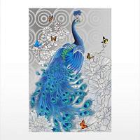 Naiyue S065 Печатный чертеж с рисунком для павлина синий камень