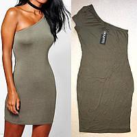 Необычное Нарядное Стильное Платье с Рукавом на Одно Плечо Boohoo, размер S/M