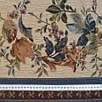 Гобелен ткань, цветочный принт с полосками, фото 3