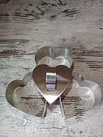 Набор форм для гарнира из 3-ти с выталкивателем  Сердце.