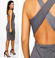 Шикарное Обтягивающее Платье с Открытой Спиной Boohoo оригинал, размер S