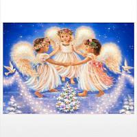 Naiyue J786 Angel Print Draw Алмазный рисунок белый+синий