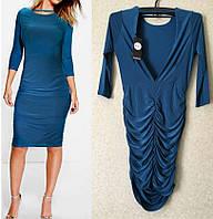 Синее Стильное Шикарное Элегантное Платье с Открытой Спиной Boohoo, размер S