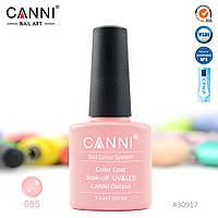 Гель-лак Canni 65  темный бежево-розовый 7.3ml