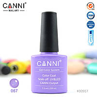 Гель-лак Canni 67 пастельный фиолетовый 7.3ml