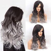 Длинный боковое разделение Colormix Wavy Capless Synthetic Wig