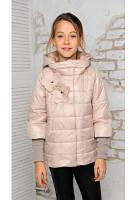 Стильная куртка для девочки Миледи бежевый