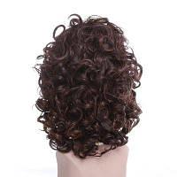 Личность Пушистые короткие поддельные волосы Кудрявые курчавые парики для черных женщин Блондинка Смешанный коричневый синтетический парик Африканская