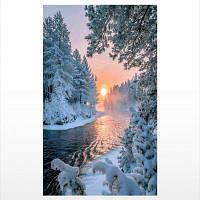 Naiyue S123 Закат Снежная сцена Print Draw Diamond Drawing Цветной